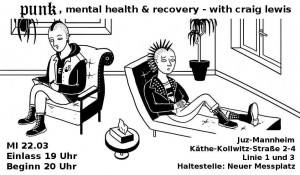 Vortrag/Lesung gegen Spende  Punk, Mental Health & Recovery with Craig Lewis