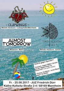 Clipwings / Two Seasons Left/ Almost Tomorrow + Vegan BBQ