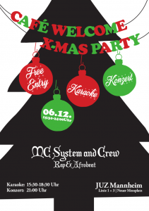 Café-Welcome X-Mas Party