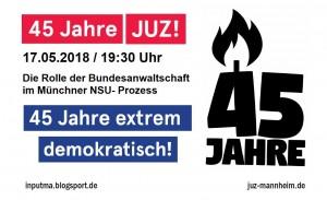 Die Rolle der Bundesanwaltschaft im Münchener NSU-Prozess – Vortrag und Diskussion mit Isabella Greif und Fritz Burschel
