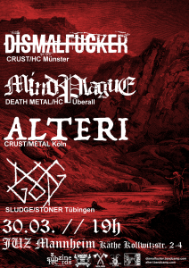 ALTERI / DISMALFUCKER / MindPlague / DOGGOD