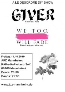 Giver / We Too, Will Fade