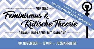 Feminismus & Kritische Theorie + Barabend mit Karaoke